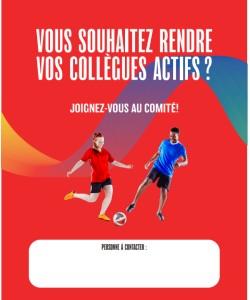 Affiche de recrutement pour le comité ACTIZ