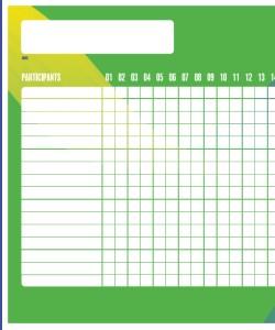 Affiche de valorisation de la participation aux activités