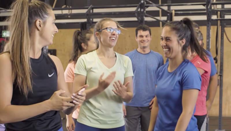 équipe de travail au gym